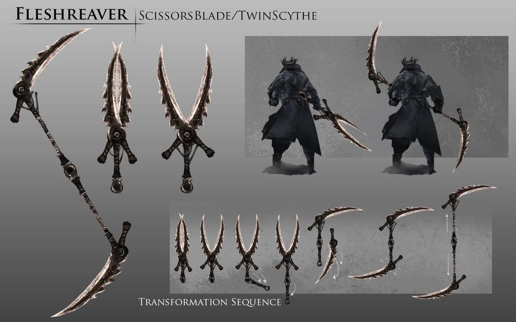 bloodborne_fanart___fleshreaver_weapon_idea_by_daemonstar-d8pj852