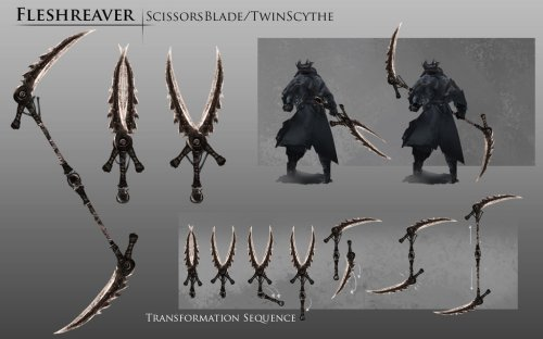 bloodborne_fanart___fleshreaver_weapon_idea_by_daemonstar-d8pj852