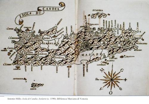 Χάρτης του Antonio Millo (1593) από τη Μαρκιανή Βιβλιοθήκη της Βενετίας